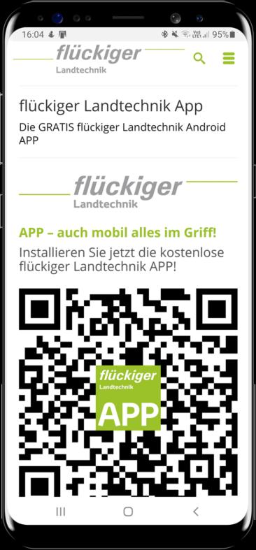Die GRATIS flückiger Landtechnik Android APP